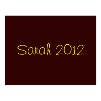 Sarah 2012 postcard