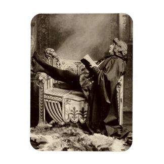 Sarah Bernhardt (1844-1923) as Hamlet in the 1899 Flexible Magnets