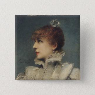 Sarah Bernhardt  1875 15 Cm Square Badge