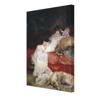 Sarah Bernhardt  1876 Canvas Print