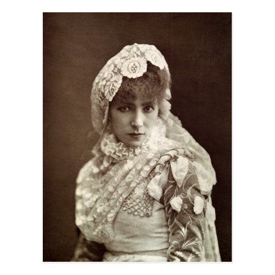 Sarah Bernhardt  in the role of Marion Delorme Postcard