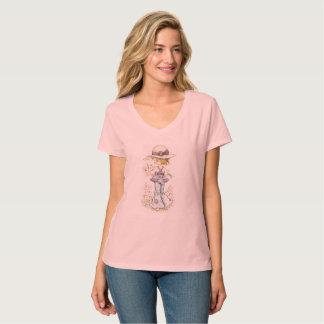 "Sarah Kay ""Camille"" V-Neck T-Shirt Pink"