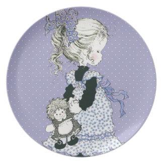 """Sarah Kay Cherish """"Pia"""" Melamine Plate Lavender"""