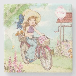 "Sarah Kay Heritage ""Bike Ride"" Drink Coaster Stone Coaster"