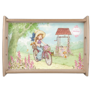 "Sarah Kay Heritage ""Bike Ride"" Serving tray"
