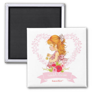 Sarah Kay With Love Square Magnet