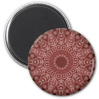 Sarah Lace Mandala 6 Cm Round Magnet