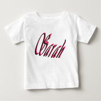 Sarah, Name, Logo, Baby's White T-shirt