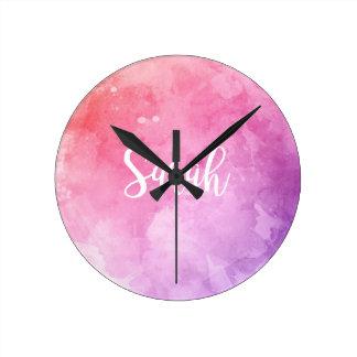 Sarah Name Round Clock