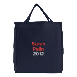 Sarah Palin 2012 Embroidered Tote Bags