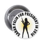Sarah Palin 2016 Buttons