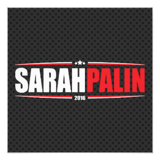 Sarah Palin 2016 (Stars & Stripes - Black) Photo Print