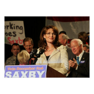 Sarah Palin at Chambliss Rally Poster