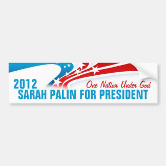 Sarah Palin Car Bumper Sticker