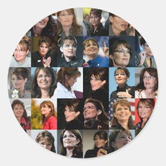 Sarah Palin Collage Sticker Packs