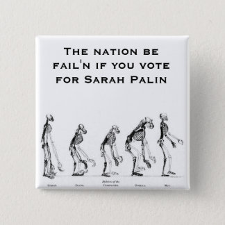 Sarah Palin- Creationist 15 Cm Square Badge