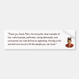 Sarah Palin Evil Bumper Sticker