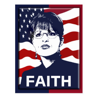 Sarah Palin Faith Postcard