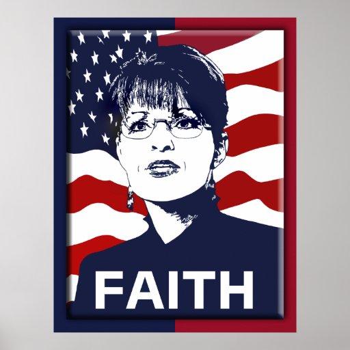 Sarah Palin Faith Poster