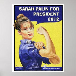 SARAH PALIN FOR PRESIDENT 2012 PRINT