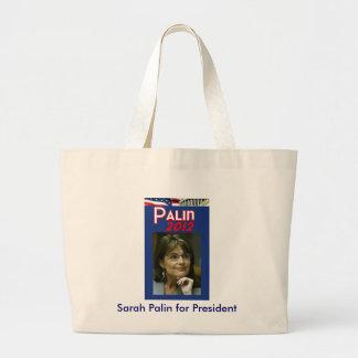 Sarah Palin for President Jumbo Tote Bag