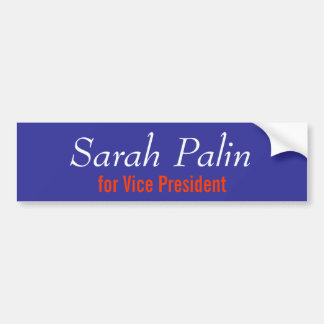 Sarah Palin for Vice President Bumper Sticker