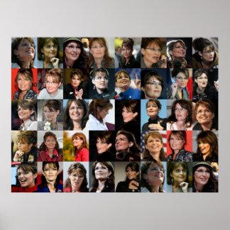 Sarah Palin Framed! Photo Collage Poster