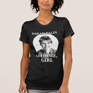 SARAH PALIN-...GO HOME, GIRL BLK T-Shirt