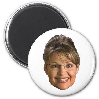sarah palin head 6 cm round magnet