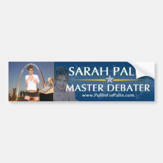 Sarah Palin - Master Debater Bumper Sticker