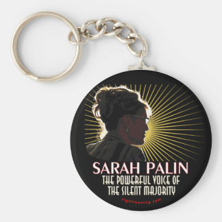 Sarah Palin Powerful Voice Key Ring