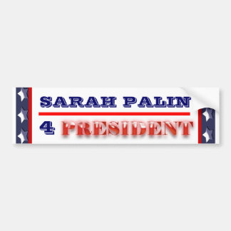 Sarah Palin president 2012 CUSTOMIZE Bumper Sticker