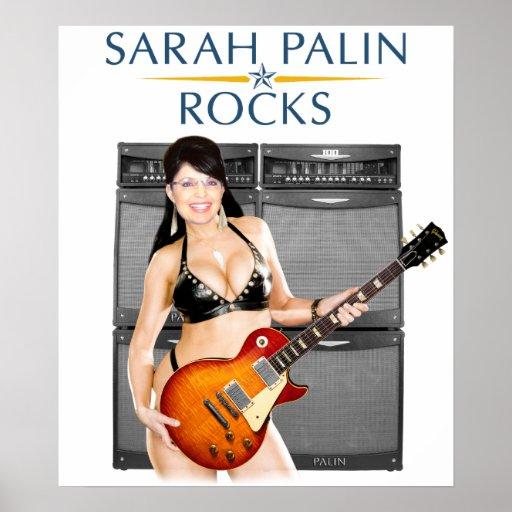 Sarah Palin Rocks Poster