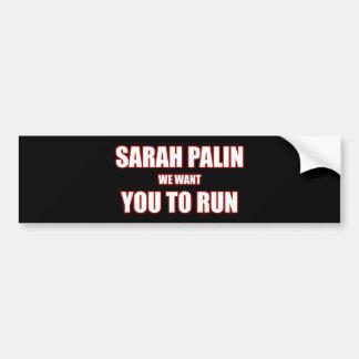 Sarah Palin Run 2012 Bumper Stickers