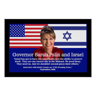 Sarah Palin Speaks About Israel Poster