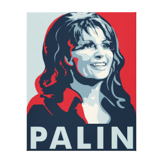 Sarah Palin Stretched Canvas Print
