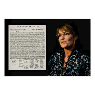 Sarah Palin & The Declaration of Independence Print