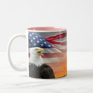 Sarah Palin - US Flag Eagle Mugs