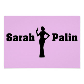 Sarah Palin US Flag Poster