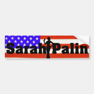 Sarah Palin USA Flag Bumper Sticker