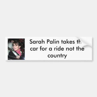 sarah_palinride bumber sticker, Sarah Palin tak... Bumper Stickers