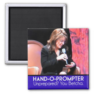 Sarah Palin's Teleprompter: The Hand-o-Prompter Magnet
