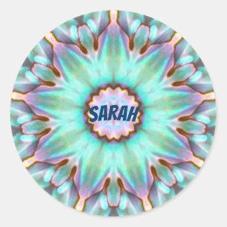 Sarah ~ Personalised Paua Shell Sticker Fractal ~