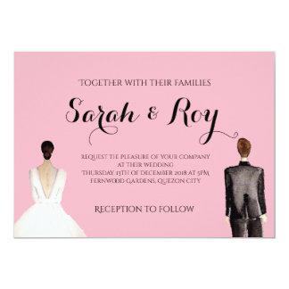 Sarah Portrait Wedding Invitation - Details Page