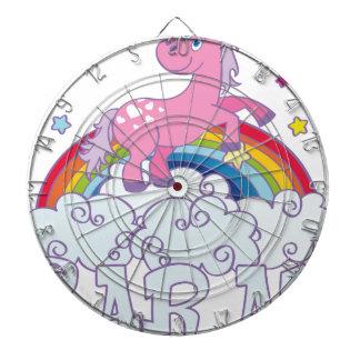 Sarah unicorn name dartboard