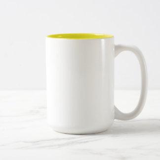 Sarah Yellow 15 oz Two-Tone Mug