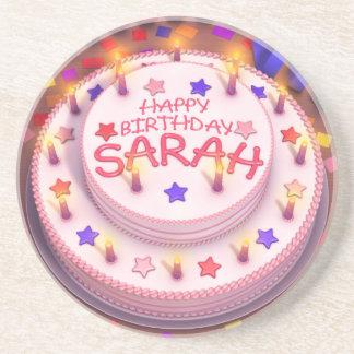 Sarah's Birthday Cake Drink Coaster