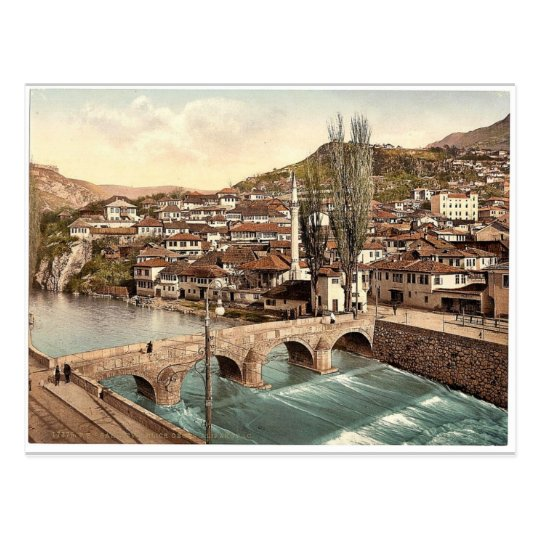 Sarajcvo (i.e., Sarajevo), looking towards Postcard