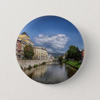 Sarajevo city, capital of Bosnia and Herzegovina 6 Cm Round Badge