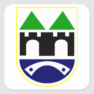 Sarajevo Coat of Arms Square Sticker